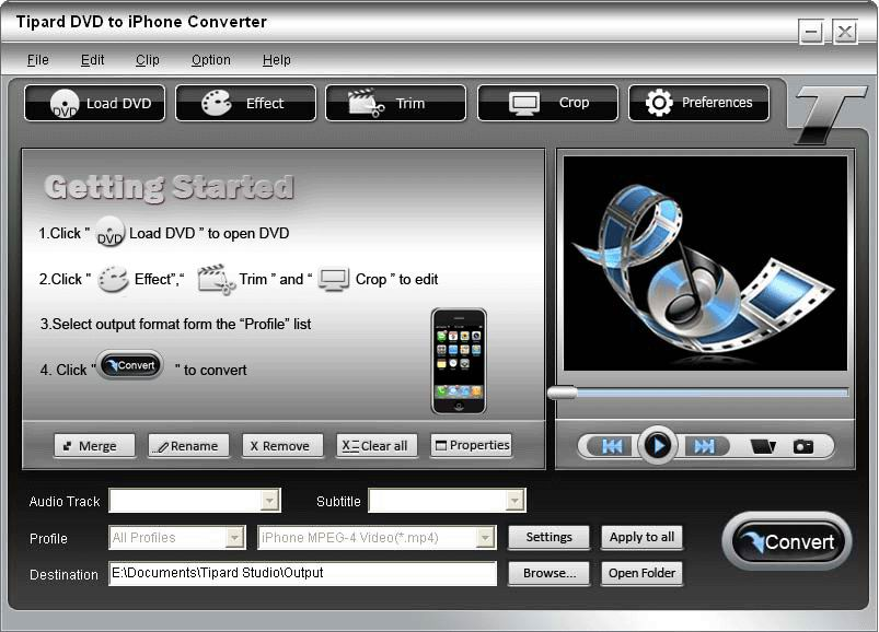 Buy DVD to iPhone Converter screenshot Screenshot