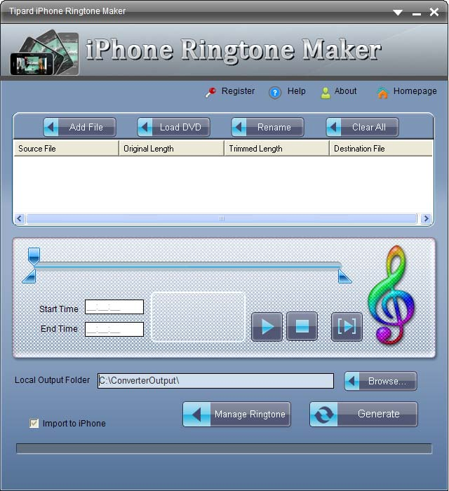iPhone Ringtone Maker screenshot Screenshot